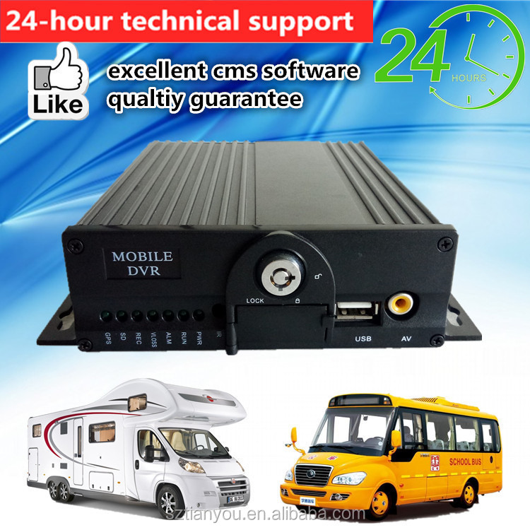 4CH Dual SD Card Mobile <strong>DVR</strong> H.264 vehicle mdvr 720p/D1/HD1/CIF