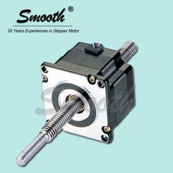 Smooth nema 34 threaded shaft stepper motor non captive for Threaded shaft stepper motor