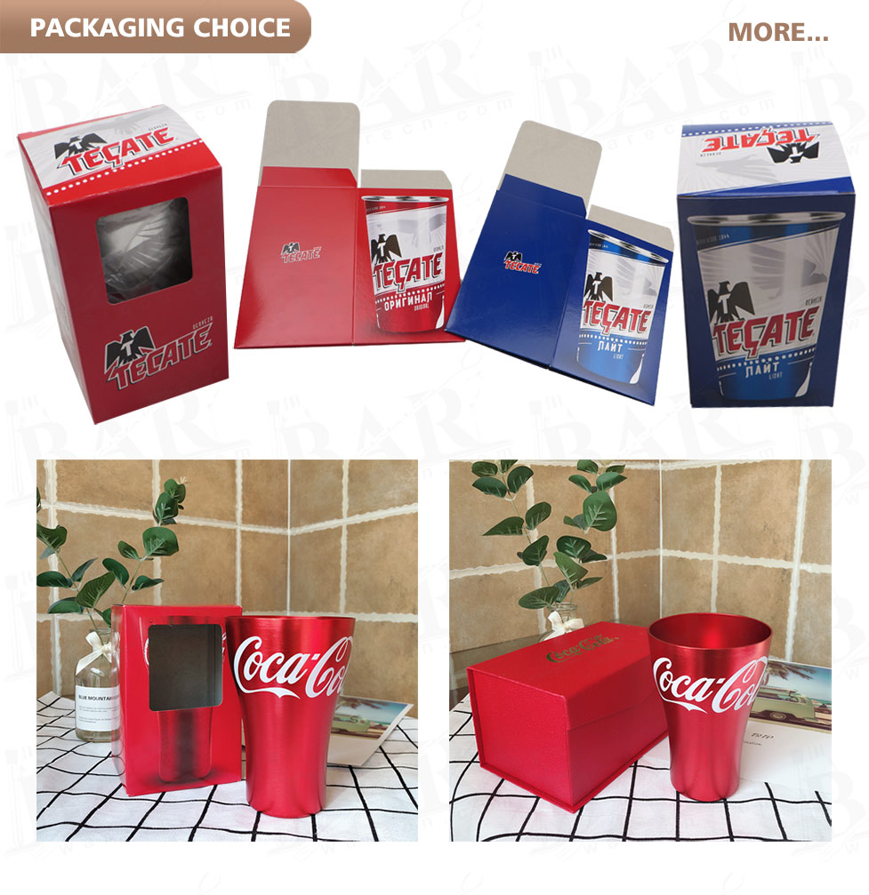 Aluminum tumblers packaging
