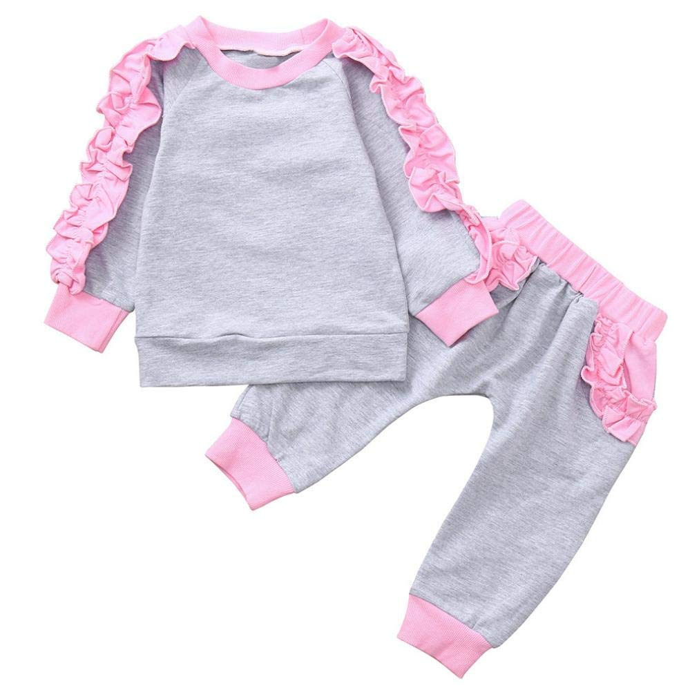 Little Girl Sport Tracksuit Sets for 0-4 Y,Jchen(TM) Toddler Baby Kids Little Girls Long Sleeves Tops+Pants Autumn Home Wear Outfits (Age: 2-3 T)