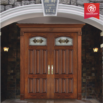 Modern double exterior door wrought iron front door wooo for Door design catalogue
