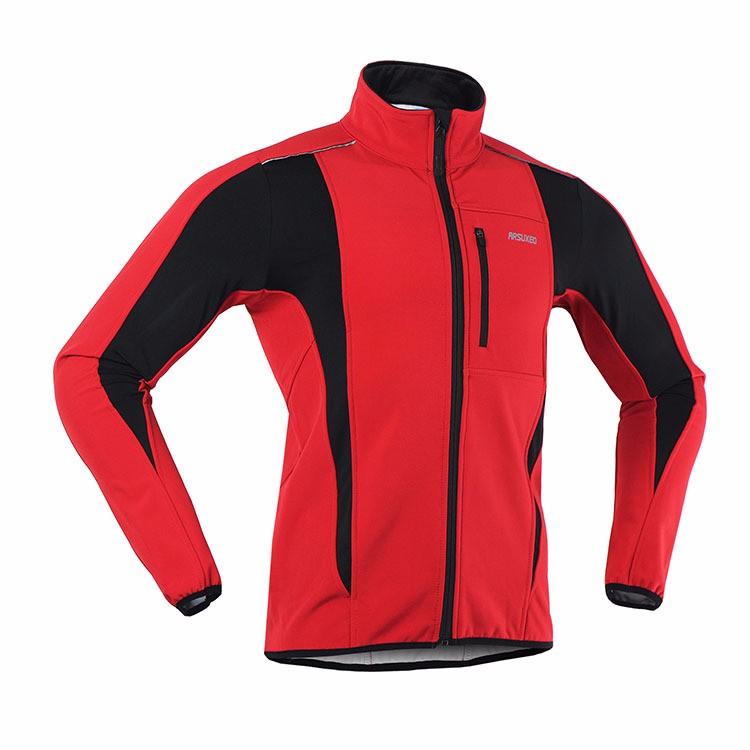 2018 Thermische Fietsen Jacket ridding jacket Fiets Kleding Winddicht Waterdicht Ademend Zakken mountainbike Jersey