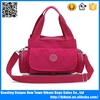 Women bright color nylon tote bag shoulder bag with handle china factory
