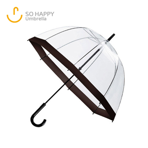 Auto Open Lightweight Transparent Material Kids Clear POE Bubble Umbrella