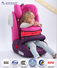 High sale in japan and for young baby car seat group 1+2+3 ISOFIX ecer4404