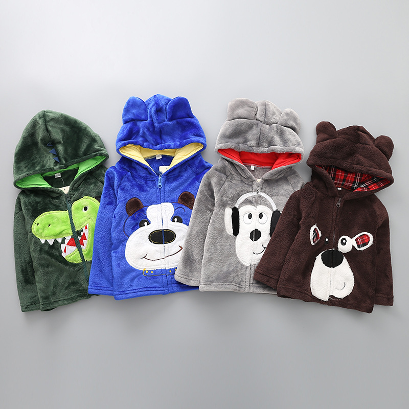2017 Fashion Winter Thicken Cartoon Decorations Children Coat Newborn Baby Hoodies Coat