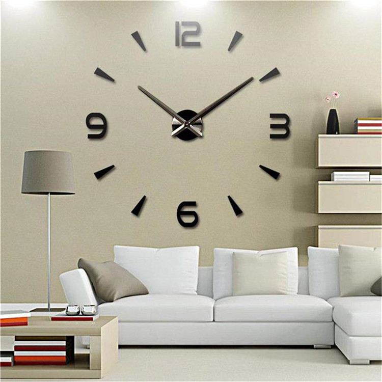 2019 new fashion favorable price diy large wall clock 3d