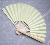 Chinese double layer wedding plain paper hand fans