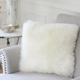 Best selling decorative sheepskin pillow custom seat cushion