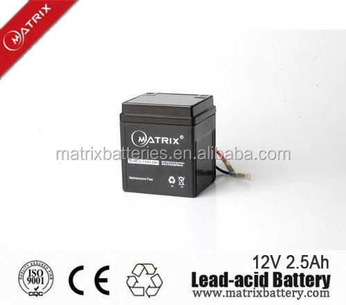 12v 2.5AH YB2.5L-BS motorcycle sealed lead acid battery