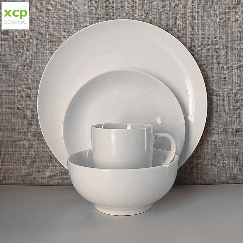 16 pcs blanco barato de china de hueso de la cena de servicio para 4 personas