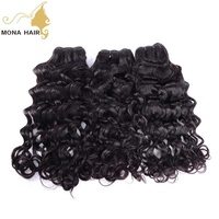 Wholesale factory price 9A human hair extension Peruvian virgin hair 8 to 30 inch Deep wave Water wave Brazilian human hair