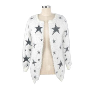 ladies knitwear wholesale printed cardigan jumper women