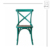 Wooden Dining Stacking Cross Back Wedding Chair