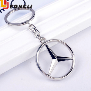 China Factory Good Quality Die Casting Mercedes-Benz Car Brand Logo Keychain