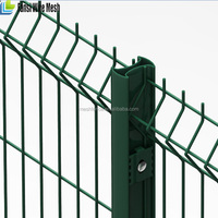 cheap beautiful4x4 welded wire mesh fence/PVC coated galvanized twin bar wire mesh fence