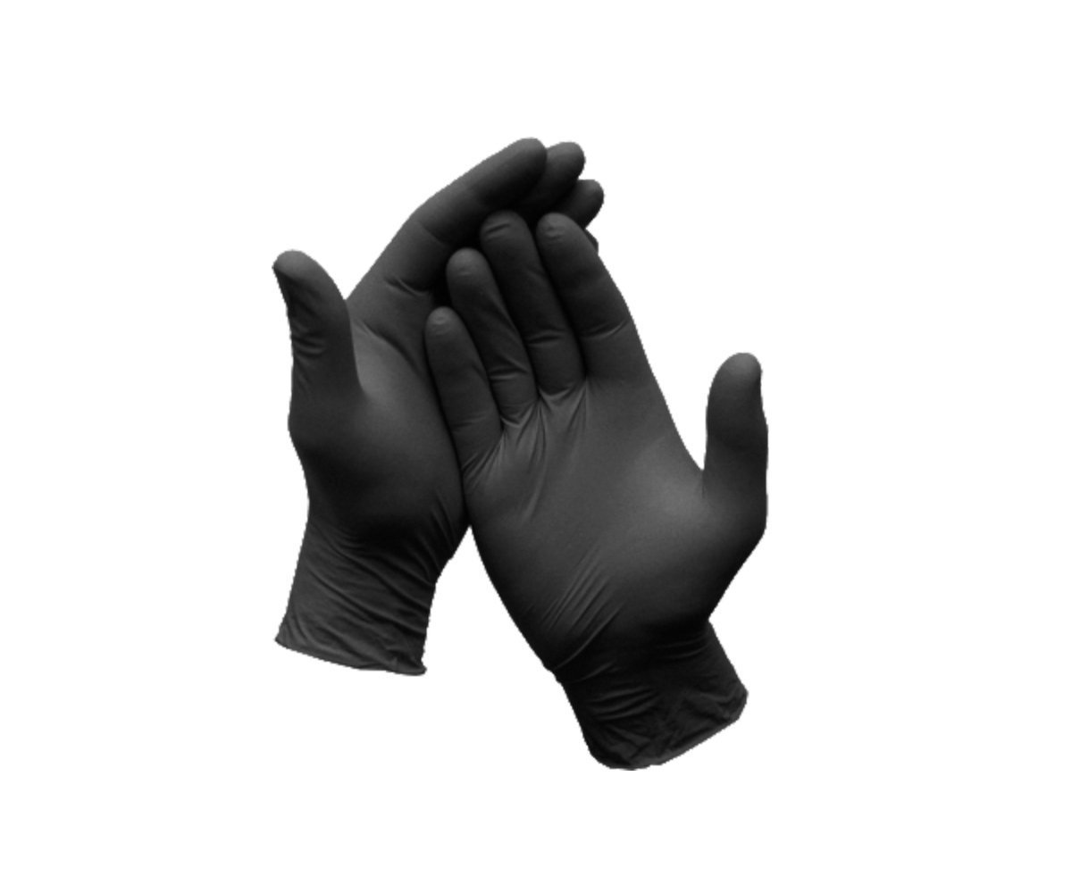 Cornett Black Nitrile Gloves - Medical Grade, Powder Free, Latex Rubber Free, Disposable, Non Sterile, Food Safe, Textured Black Color, Convenient Dispenser. (100, X-Large)