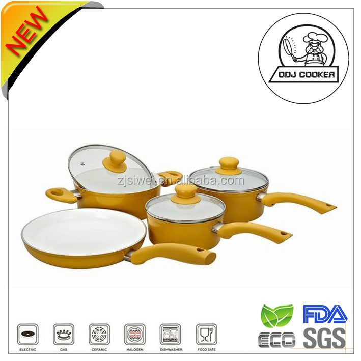 forged Aluminum Frying Pan &sauce pot &casserole cookware sets/Ceramic Coating/nonsticking