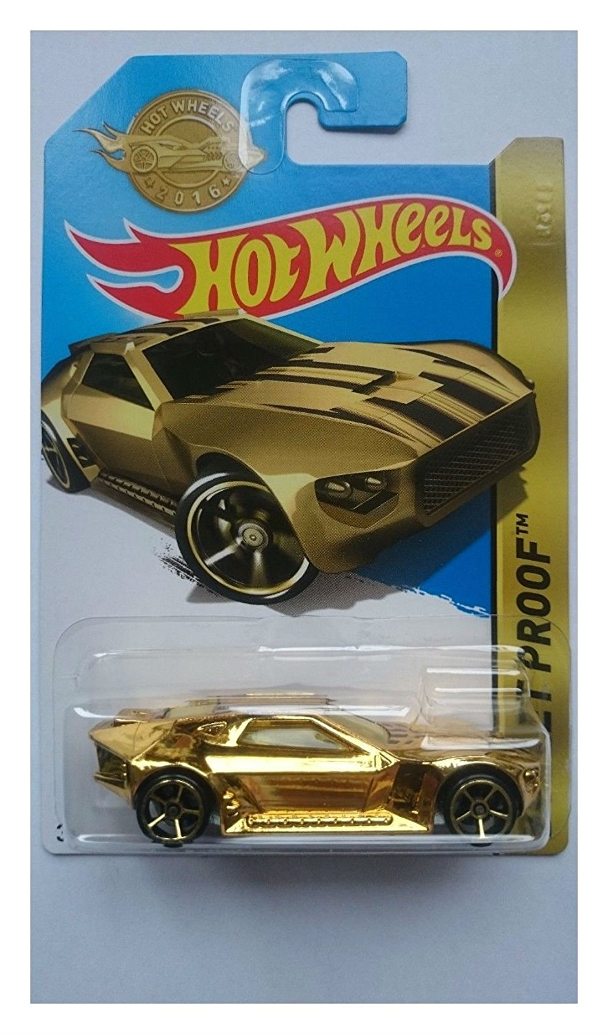 HOT WHEELS 2016 SPECIAL EDITION BULLET PROOF GOLD DPN12 NEW LONG BISTER LIMITED Toys for Boys