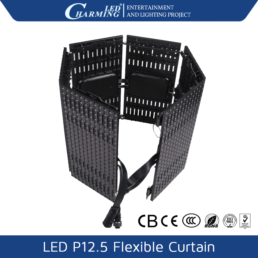 P12 5 led flexible screen outdoor led tv parts curtain display