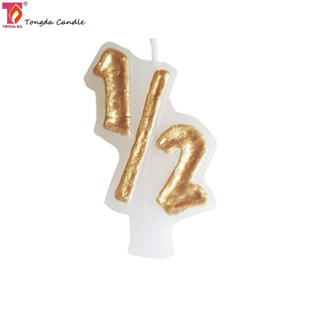 Baby Happy Shaped 1 2 Year Birthday Candle