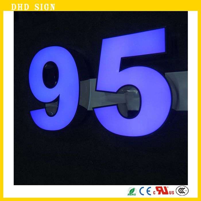 Custom Made Block Letters LED Big Letter Sign Free Standing Acrylic LED Signs