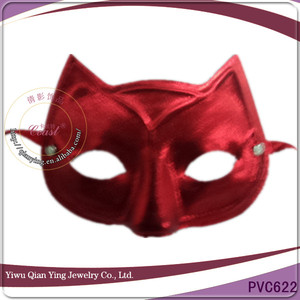 cheap red animal fox head shaped party mask for party