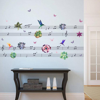 Living Room 3d Music Note Wall Art Stickers - Buy Wall Art Stickers ...