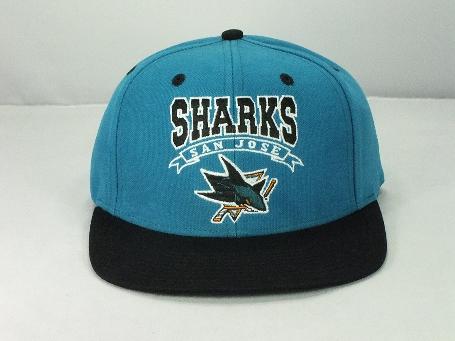 low priced 522d3 e8897 Get Quotations · San Jose Sharks Nhl Adult Retro Snapback Flat Brim Hat D24