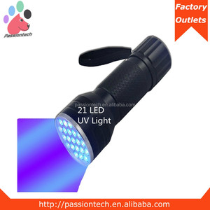 Black Light UV Flashlight 21 LED Blacklight Premium Handheld Ultraviolet Pet Dog and Cat Urine Stain Finder