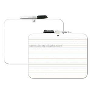 School Teaching Aids 9x12 Magnetic Whiteboard Lined with Marker Pen and Eraser Lapboards for Students