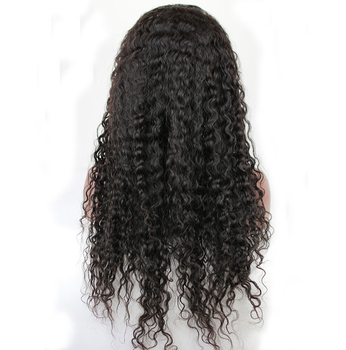 24 26 28 30 32 34 inches wholesale cheap long Brazilian virgin human hair curly full lace wig with baby hair