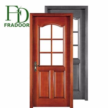 House Model Open Inside Casement Window Wood Door With Knobs