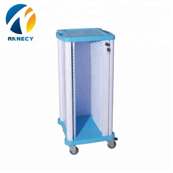 AC-RT005 single row Hospital abs plastic patient file history record file trolley prices