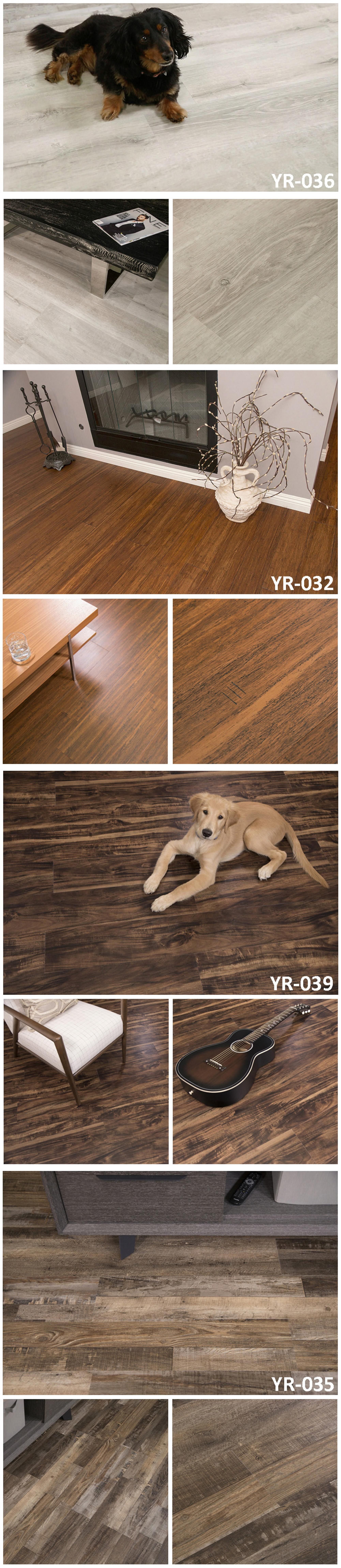 Factory Direct Colorful Wpc Rigid Luxury Lvt Vinyl Plank