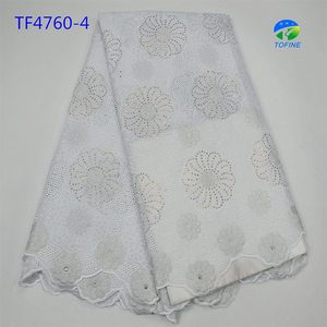Latest plain white swiss voile lace heavy design african swiss lace made in china