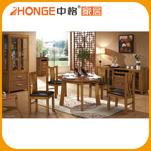 Philippine Style Solid Wood Round Dining Table Set