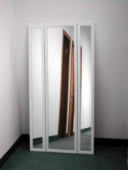 White Decorative Standing Three Way Mirror