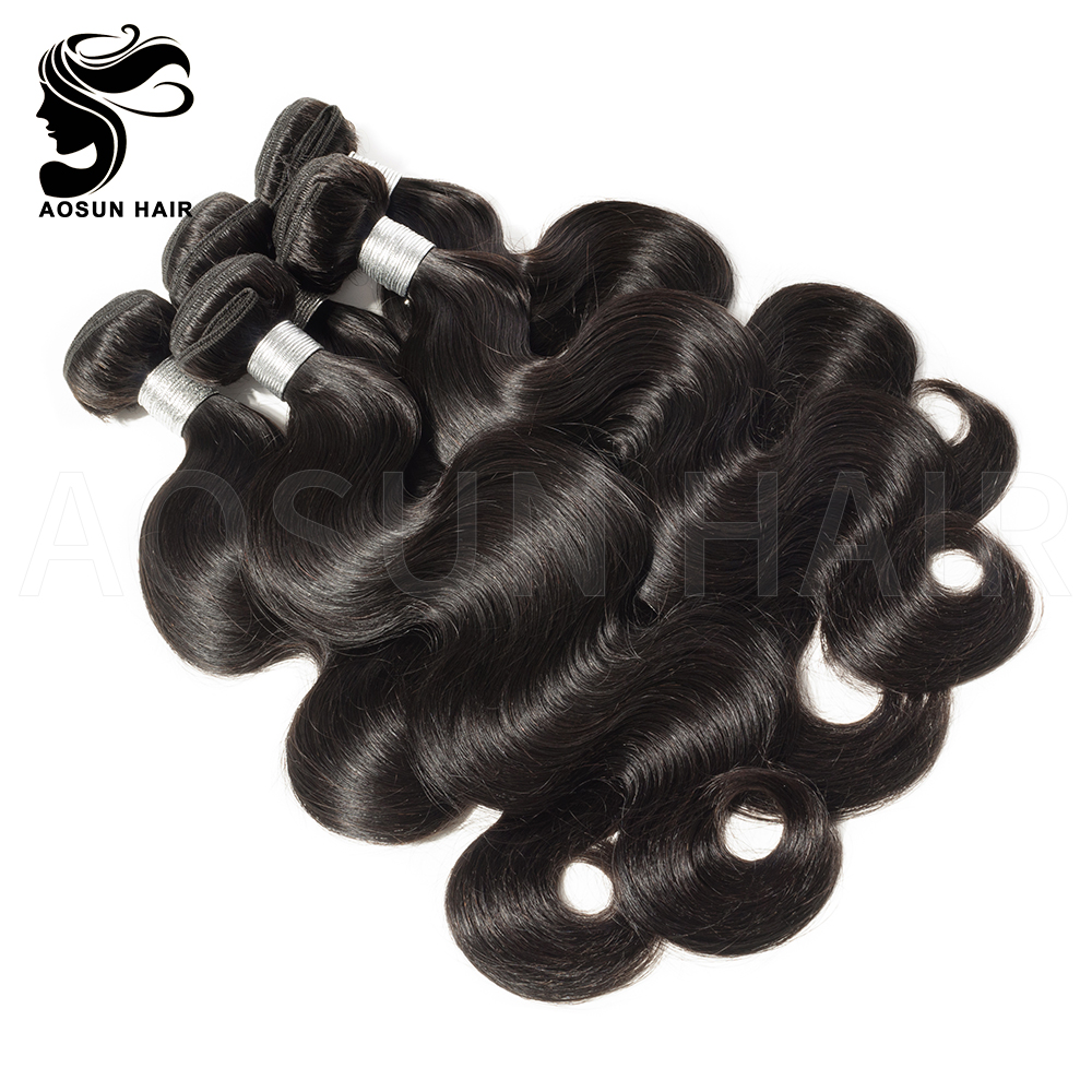 AOSUN HAIR Body Wave unprocessed virign brazilian wave hair фото