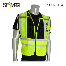 ANSI Class 2 Public Safety Warning Security Traffic high visibility Vest With Logo and pockets