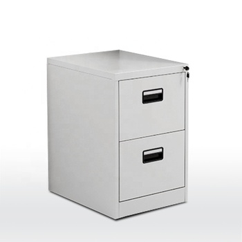 Office metal steel white 2 drawer vertical file cabinet