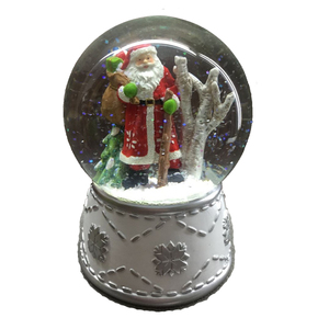 Christmas Snow Water Globe Custom Made Resin Santa Claus Snow Globe