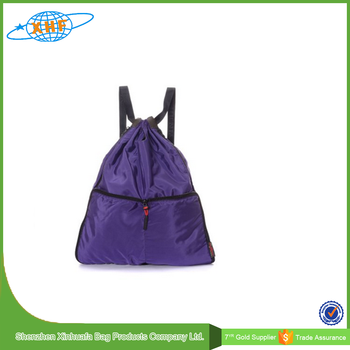 2016 Lastest Design Foldable Waterproof Nylon Drawstring Backpack