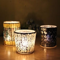 Christmas candel holder with color painting,glass candle holders for spring