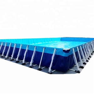 commercial metal frame steel swimming pool above ground water park pool