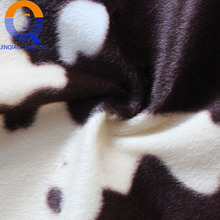 home textile 100% Polyester warp knitted fleece animal printed cheap velboa plush fabric for toy upholstery