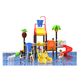 2018 summer funny game kids swimming pool water slider