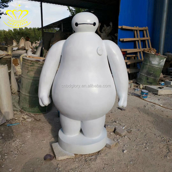 Fiberglass Cute Cartoon Art Sculpture of Animation Movie Character baymax