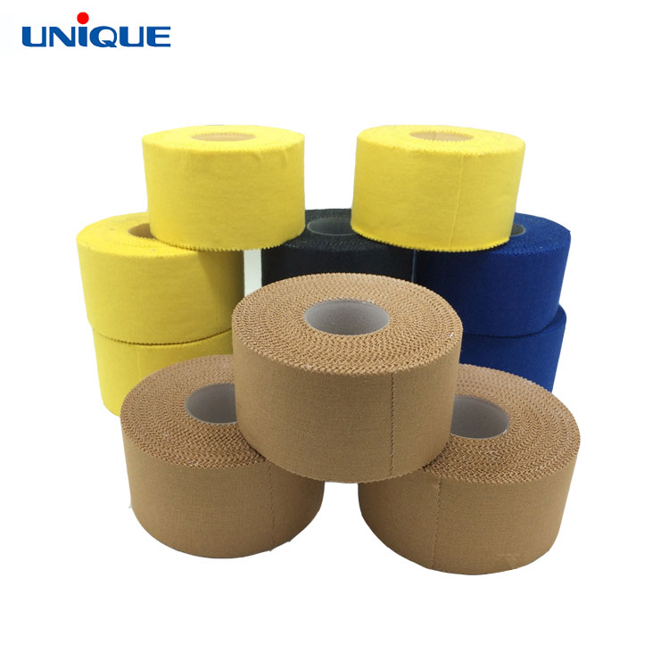Medical runner athletic sports cotton tape medical zinc oxide rigid strapping sport tape