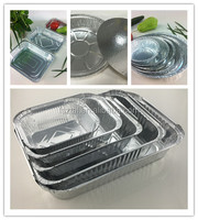 Disposable baking foil tray pan lunch box small aluminum food containers with alu+paper cover